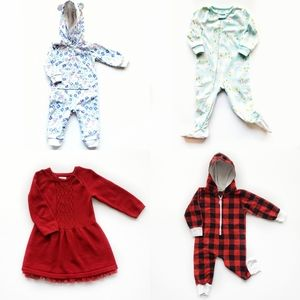 Mixed Brands Girl's 4-Piece Bundle 18M